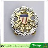 Оптовый изготовленный на заказ воинский значок Pin отворотом металла