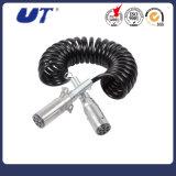 Carreta 7 Core Elevadores eléctricos de cabo em espiral Espiral Cabo em espiral do cabo de alimentação do reboque cabo em espiral de ABS