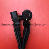 UL negro de 1,8 m de cable de alimentación de 3 pines con IEC C13