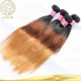 100%年のバージンの人間のブラジルの前担保付きの毛