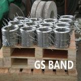 En acier inoxydable fente étroite à la largeur des bandes de la bobine d'attaches de câble en acier