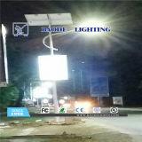 luz de rua solar do diodo emissor de luz da bateria de lítio 70W de 9m