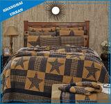 型の格子縞の綿のパッチワーク様式のベッドカバー