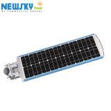 Venta caliente LED integrado Stand Alone calle la luz solar en el exterior