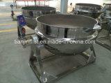 Jacketed鍋|ジャケットの蒸気のやかんNclinableは混合機能の鍋を持ち上げた