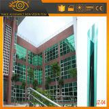 Fácil instalar la película verde y de plata de la ventana del edificio de la protección de la intimidad