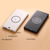 6000mAh banco de potência de carregamento rápido sem fio para o telefone celular Tablet PC