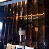 Righe curve di titanio nere dell'acciaio inossidabile dell'hotel, Baseboard della striscia di bordo dell'oro della Rosa