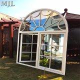 Barbacoa de madera aluminio Casement Ventana de cristal con doble acristalamiento aislante