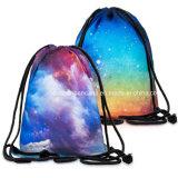 Impresión personalizada OEM de nylon poliéster impermeable plegable Deportes Natación Drawstring Backpack Bag