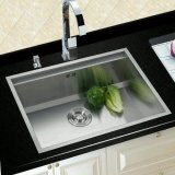 304ステンレス鋼ハンドメイドの単一ボールの台所洗浄または洗浄流し