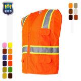 Vest van de Veiligheid van het Zicht van de Polyester hallo-Vis het Hoge Weerspiegelende