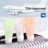Venda por grosso de silicone de fábrica vaso de cosméticos de viagens para embalagem de maquilhagem