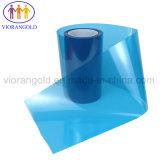 25µ/36µ/50µ/75µ/100µ/125um transparente/azul/vermelho a película protectora de PET com adesivo acrílico para proteger a tela de plástico de vidro