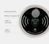 充電器のiPhoneのためのスマートな家庭電化製品2の出力タイプC USB Cの速い料金のデスクトップ表によって埋め込まれる無線充電器