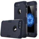 プラスAppleのiPhone 7のための二重層堅いPC+の柔らかいシリコーンの影響の保護のハイブリッド頑丈な耐震性完全ボディ保護例