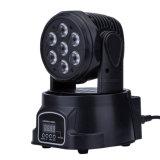 Mini indicatore luminoso capo mobile poco costoso della fase del fascio di effetto 7*10W LED RGBW della discoteca