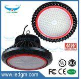 Lampada chiara esterna multifunzionale della baia del UFO IP65 alta 100W 120W 150W 200W LED dell'UL Dlc dell'indicatore luminoso di alto lumen