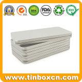 長方形の細い錫ボックス銀の金属の筆箱