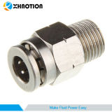 Enfoncer en laiton pneumatique de Xhnotion l'air ajustant le connecteur mâle droit