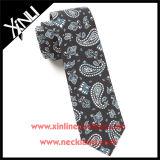Tela impressa 100% seda Twill Paisley Neck Tie for Men