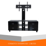 Ahorro de espacio de muebles LED TV Soporte bandeja de madera del soporte del estante