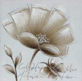 Картина маслом конструкции цветка 100% Handmade просто для домашнего украшения