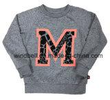 Пуловер шеи краски пряжи круглый для малышей с печатание письма