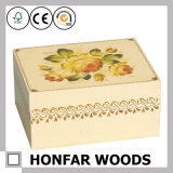 無作法な未完成の純木のギフト用の箱の宝石箱の収納箱