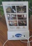 Banco da potência do menu da barra da cafetaria do restaurante com 10000mAh