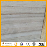 Мрамор Китая белый, деревянная плитка мрамора вены, белый мраморный сляб, кристаллический деревянный мрамор зерна