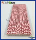 Paille de papier de Chevron de rouge vif de décoration de fête d'anniversaire