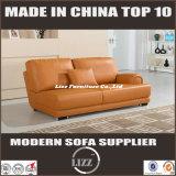Sofá popular do couro genuíno da sala de visitas ajustado (LZ-706)
