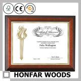 Frame antigo do original do certificado do retrato da madeira contínua para o escritório