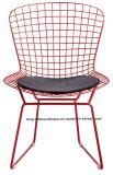 Restaurante moderno de réplica Derrubar cadeira do fio vermelho