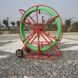Трубопровод кладя змейку волокна Rodder кабеля стеклоткани 12mm*300m