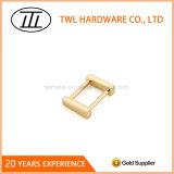 curvatura retangular do anel da liga do zinco do ouro de 19*20mm