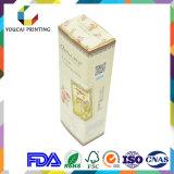 Выполненное на заказ деревянное зерно бумажная коробка с открытым окном для лицевой маски