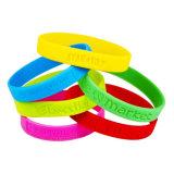 Promozione dei braccialetti dei Wristbands del silicone di Debossed
