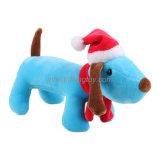 Hond van de Gift van Kerstmis vulde de Promotie het Zachte Stuk speelgoed van de Pluche in de Hoed van Kerstmis