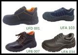 De echte Van de Vrouwen van het Leer Hogere Laarzen Ufb003 van de Veiligheid van het Ce- Certificaat
