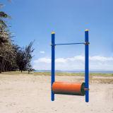 Sentado en acero galvanizado de Prensa de la Pierna de Fitness Al aire libre