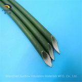 Verde 6.0m m VW-1 del silicón de la fibra de vidrio del tubo del aislante 1.2kv de la UL 2751 de Sunbow