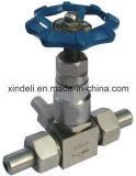 Válvula de agulha rosqueada fabricante do aço 10000psi inoxidável de DIN2999