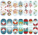 стикер ногтя стикеров искусствоа ногтя переноса воды рождественской елки 3D