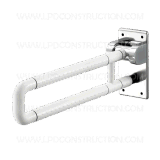 Установленные стеной Nylon Coated U-Shaped Складывая-вверх штанги самосхвата для санузла