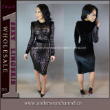 As mulheres New Fashion Sexy Bodycon Night Club Cocktail Dress (TBLSN303)