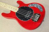 Hanhai Music/4 ficelle la guitare basse électrique rouge avec les lignes actives