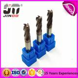 Торцевая фреза карбида 100%Solid D10.0mmx25mmx75mm 4flutes плоская для филировать CNC