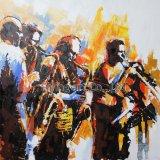 Het Decor van de Kunst van het olieverfschilderij voor Band